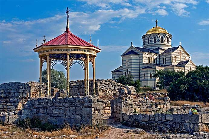 место крещения св.князя Владимира, Владимирский собор, Херсонес, Крым